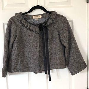 Maestro cropped wool blend jacket sz. S
